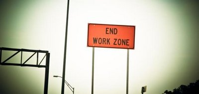 end of work zone