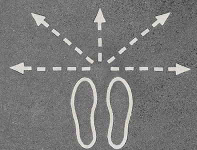 choice footprint signpost