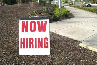 now hiring, available jobs, now hiring sign