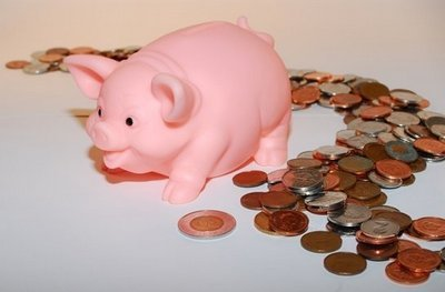 piggy bank, saving money, coins