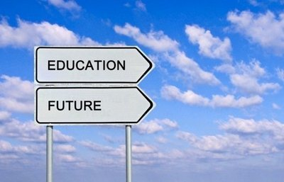 education, future, road to education sign